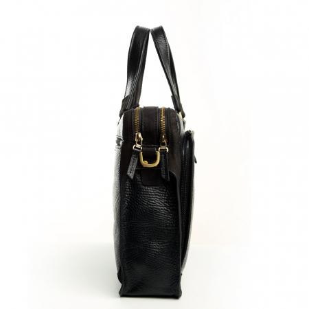 Geanta de acte din piele naturala neagra Tony Bellucci model T5059 [1]