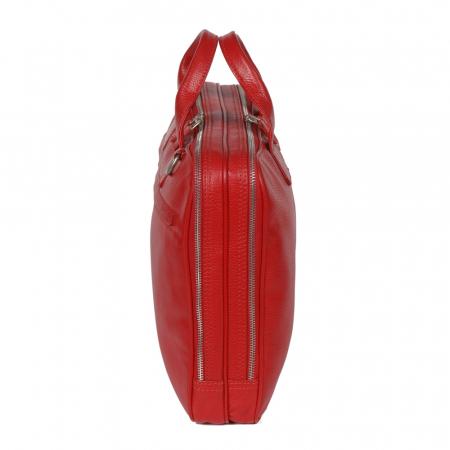 Geanta de acte din piele naturala rosie pentru dama, 7090 model [1]