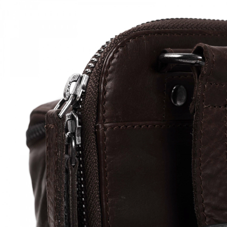 Geanta de barbati din piele naturala, The Chesterfield Brand, Calvin, Maro inchis [3]
