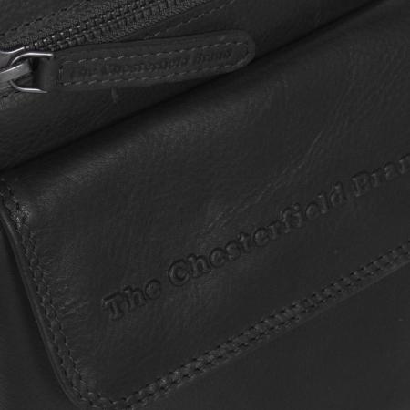 Geanta de barbati din piele naturala, The Chesterfield Brand, Lou, Negru [3]