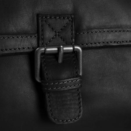 Geanta de barbati The Chesterfield Brand, de umar, din piele naturala moale, Irvine Negru [2]