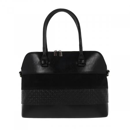 Geanta de dama din piele naturala neagra, model 209 [1]