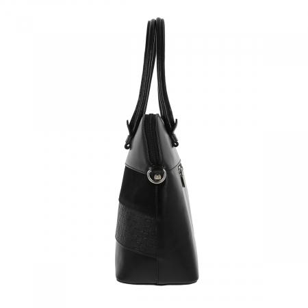 Geanta de dama din piele naturala neagra, model 209 [2]