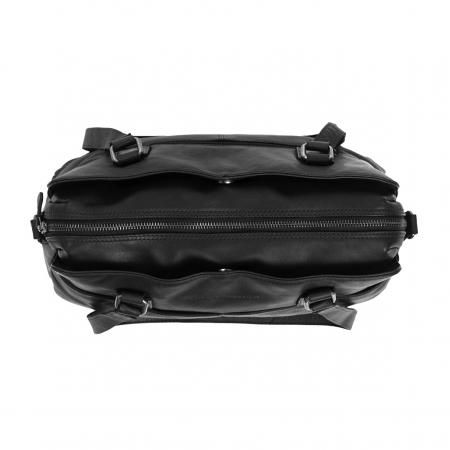 Geanta de dama din piele naturala, The Chesterfield Brand, Barcelona, de mana si umar, Negru [2]