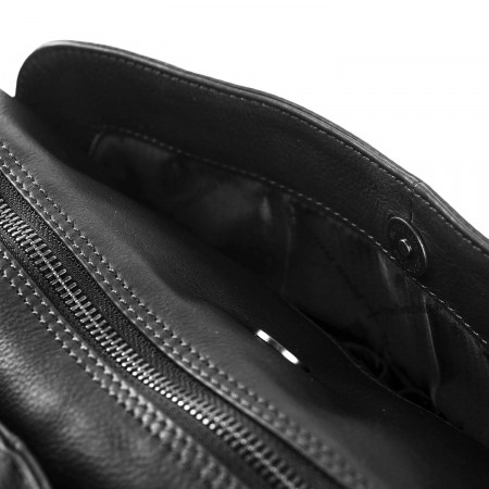 Geanta de dama din piele naturala, The Chesterfield Brand, Barcelona, de mana si umar, Negru [3]