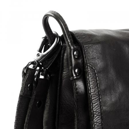 Geanta de dama din piele naturala, The Chesterfield Brand, Catalyne, de mana si umar, Negru [4]