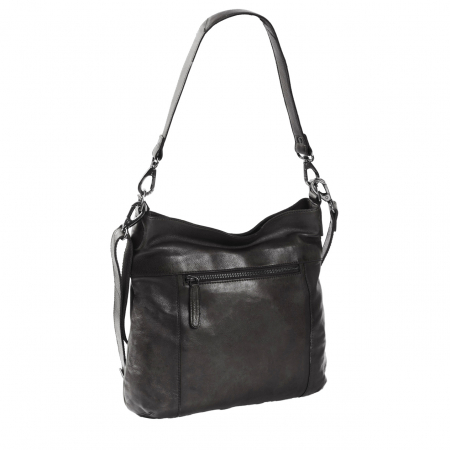 Geanta de dama din piele naturala, The Chesterfield Brand, Giulia, de mana si umar, Negru [4]