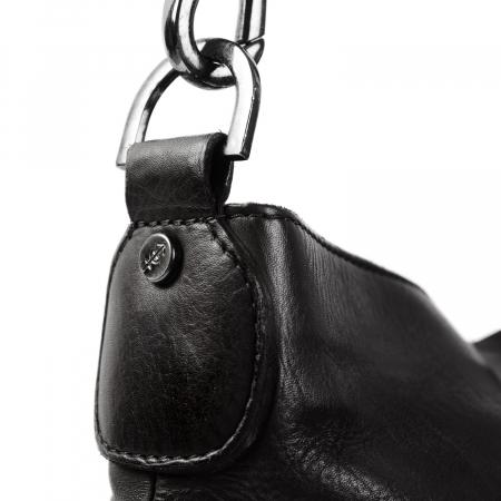 Geanta de dama din piele naturala, The Chesterfield Brand, Giulia, de mana si umar, Negru [3]