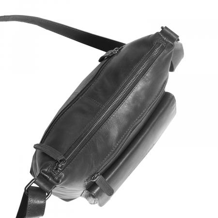 Geanta de dama din piele naturala, The Chesterfield Brand, Hailey, de umar, Negru [4]