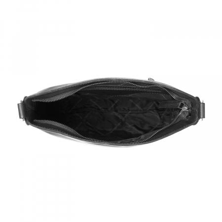 Geanta de dama din piele naturala, The Chesterfield Brand, Jaipur, de mana si umar, Negru [1]