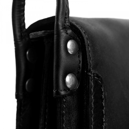 Geanta de dama din piele naturala, The Chesterfield Brand, Jakarta, de mana si umar, Negru [2]