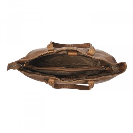 Geanta shopper de dama din piele naturala, The Chesterfield Brand, Kansas, Maro coniac [1]