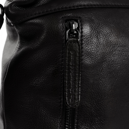 Geanta de dama din piele naturala, The Chesterfield Brand, Mae, de mana si umar, Negru [4]