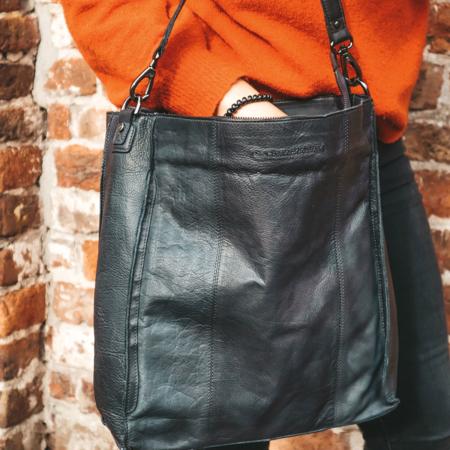 Geanta de dama din piele naturala, The Chesterfield Brand, Rebecca, de mana si umar, Negru [5]