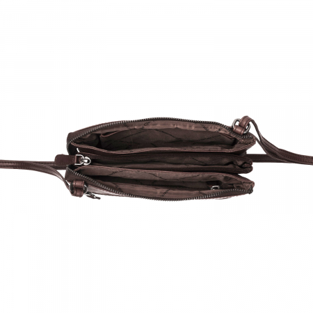 Geanta de dama din piele naturala, The Chesterfield Brand, Sadie, de umar, Maro inchis [1]