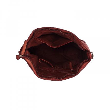 Geanta de dama piele naturala, The Chesterfield Brand, Abby, Visiniu [2]