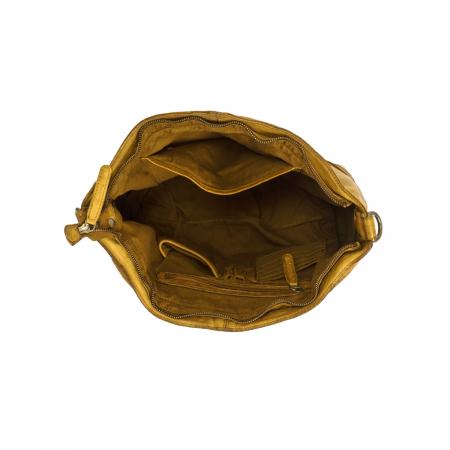 Geanta de dama piele naturala, The Chesterfield Brand, Abby, Galben ocru [2]