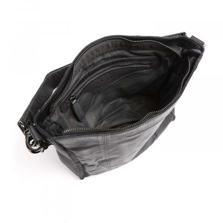 Geanta de dama, The Chesterfield Brand, piele naturala de mana si umar, Dorothea, Negru [3]