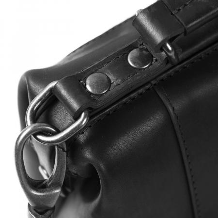 Geanta de dama, The Chesterfield Brand, din piele naturala, de mana si umar Rachael, Negru [6]