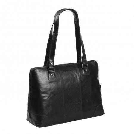 Geanta de dama, The Chesterfield Brand, din piele naturala de umar, Resa, Negru [0]