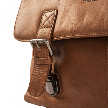 Geanta de laptop din piele naturala, The Chesterfield Brand, Belfast 15.6 inch, Maro coniac [3]