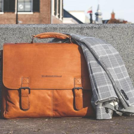 Geanta de laptop din piele naturala, The Chesterfield Brand, Belfast 15.6 inch, Maro coniac [1]