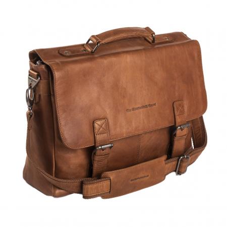 Geanta de laptop din piele naturala, The Chesterfield Brand, Belfast 15.6 inch, Maro coniac [0]