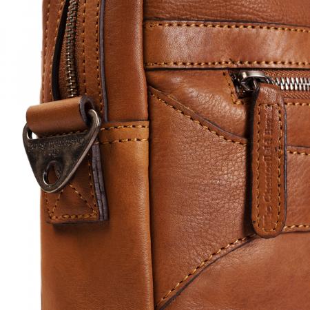 Geanta de laptop din piele naturala, The Chesterfield Brand, Dean 15.4 inch, Maro coniac [3]