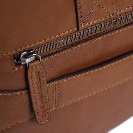 Geanta de laptop din piele naturala, The Chesterfield Brand, Ethan 15.6 inch, Maro coniac [4]