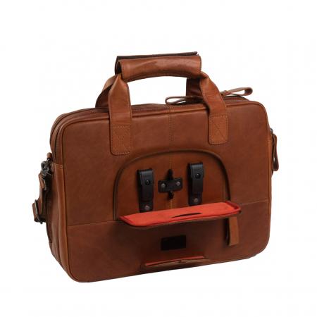 Geanta de laptop din piele naturala, The Chesterfield Brand, Geneva 15.6 inch, Maro coniac [6]