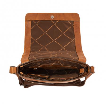 Geanta de laptop din piele naturala, The Chesterfield Brand, Marley 15.6 inch, Maro coniac [1]