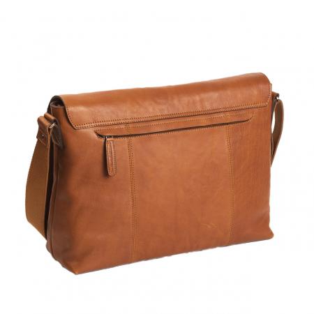 Geanta de laptop din piele naturala, The Chesterfield Brand, Marley 15.6 inch, Maro coniac [4]