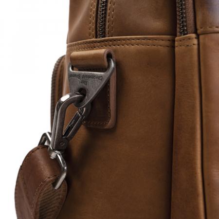 Geanta de laptop din piele naturala, The Chesterfield Brand, Misha 17 inch, Maro coniac [4]