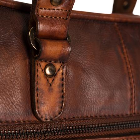 Geanta de laptop din piele naturala, The Chesterfield Brand, Rene 15.4 inch, Maro coniac [4]