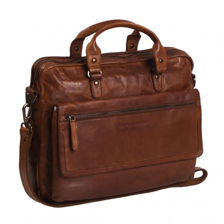 Geanta de laptop din piele naturala, The Chesterfield Brand, Rene 15.4 inch, Maro coniac [0]