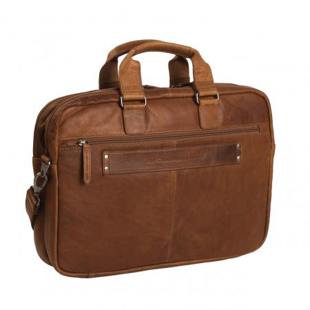 Geanta de laptop din piele naturala, The Chesterfield Brand, Seth 15 inch, Maro coniac [4]