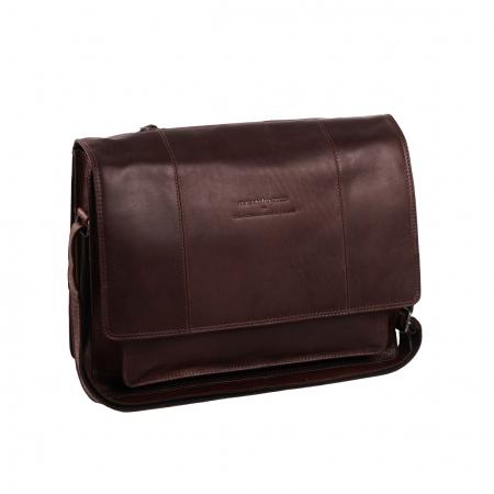 Geanta de laptop din piele naturala, The Chesterfield Brand, Gent 15.6 inch, Maro inchis [0]
