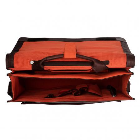 Geanta de laptop din piele naturala, The Chesterfield Brand, Gent 15.6 inch, Maro inchis [1]