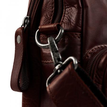 Geanta de laptop din piele naturala, The Chesterfield Brand, Gent 15.6 inch, Maro inchis [3]