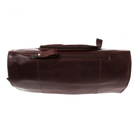 Geanta de laptop din piele naturala, The Chesterfield Brand, Gent 15.6 inch, Maro inchis [2]