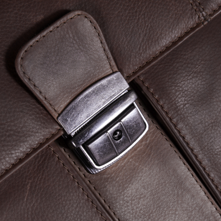 Geanta de laptop din piele naturala, The Chesterfield Brand, Joe 13 inch, Maro inchis [5]
