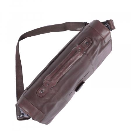 Geanta de laptop din piele naturala, The Chesterfield Brand, Joe 13 inch, Maro inchis [4]