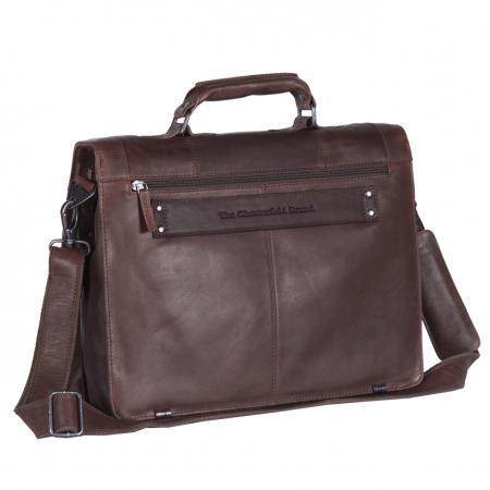 Geanta de laptop din piele naturala, The Chesterfield Brand, Joe 13 inch, Maro inchis [6]