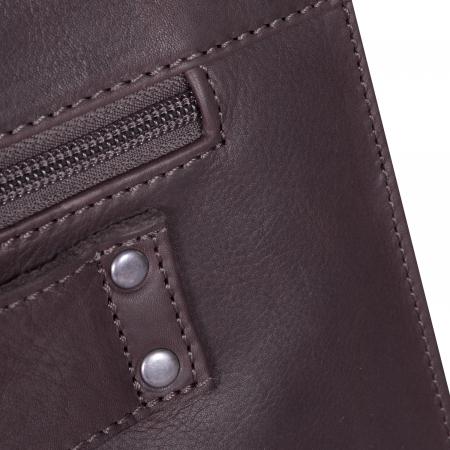 Geanta de laptop din piele naturala maro inchis, The Chesterfield Brand, Mario 15 inch [5]