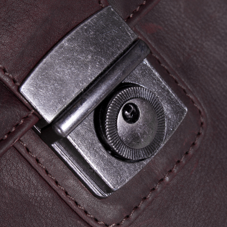 Geanta de laptop din piele naturala maro inchis, The Chesterfield Brand, Mario 15 inch [6]