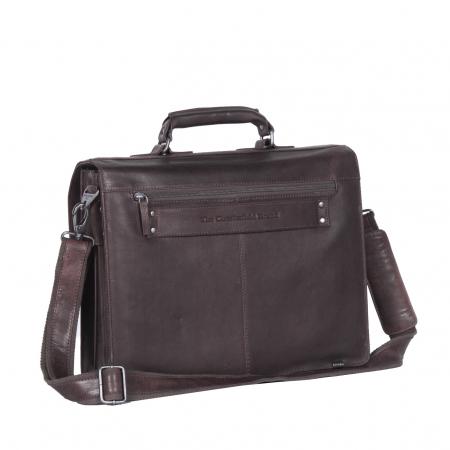 Geanta de laptop din piele naturala maro inchis, The Chesterfield Brand, Mario 15 inch [7]