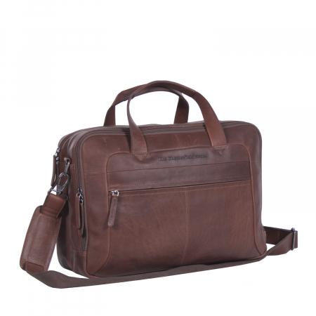 Geanta de laptop din piele naturala, The Chesterfield Brand, Ryan 17 inch, Maro inchis [0]