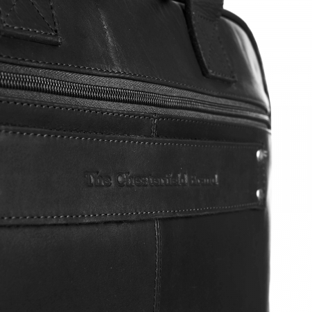 Geanta de laptop din piele naturala, The Chesterfield Brand, Calvi 15.6 inch, Negru [4]