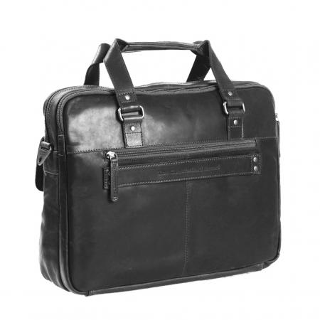 Geanta de laptop din piele naturala, The Chesterfield Brand, George 15 inch, Negru [4]
