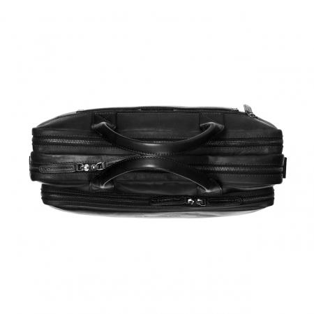Geanta de laptop din piele naturala, The Chesterfield Brand, Jackson 15.6 inch, Negru [3]